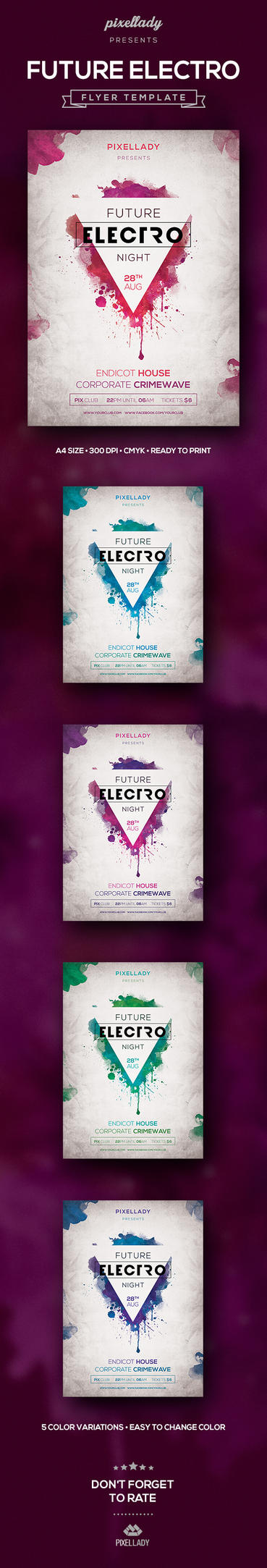 Future Electro Flyer by PixelladyArt