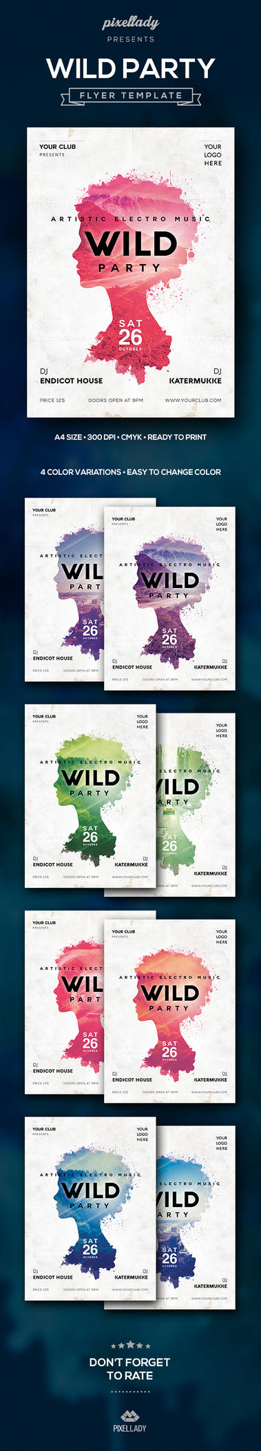 Wild Party Flyer 590 by PixelladyArt