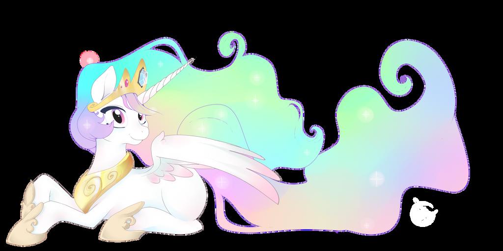 Princess Celestia WIP by LeLittleLuna
