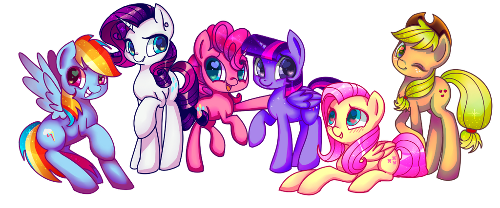 My Little Ponies by LeLittleLuna