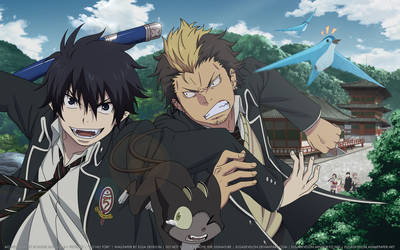 Ao no Exorcist Wallpaper HD: Ao no Tori by elisadevelon