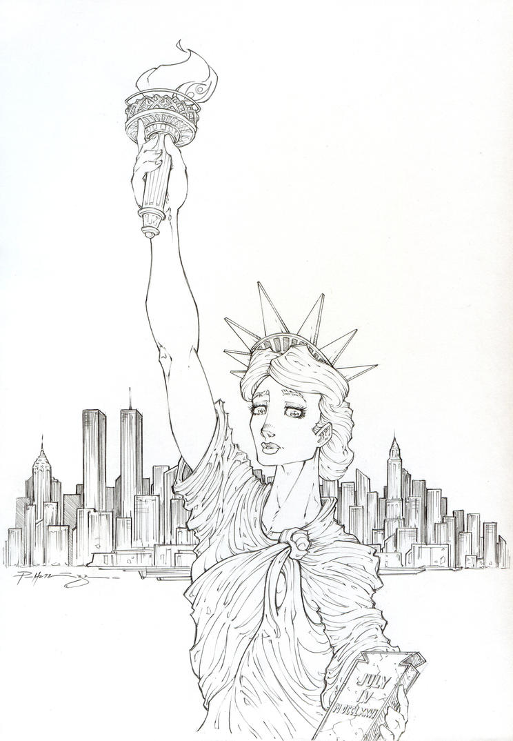 lady liberty by patrick hennings