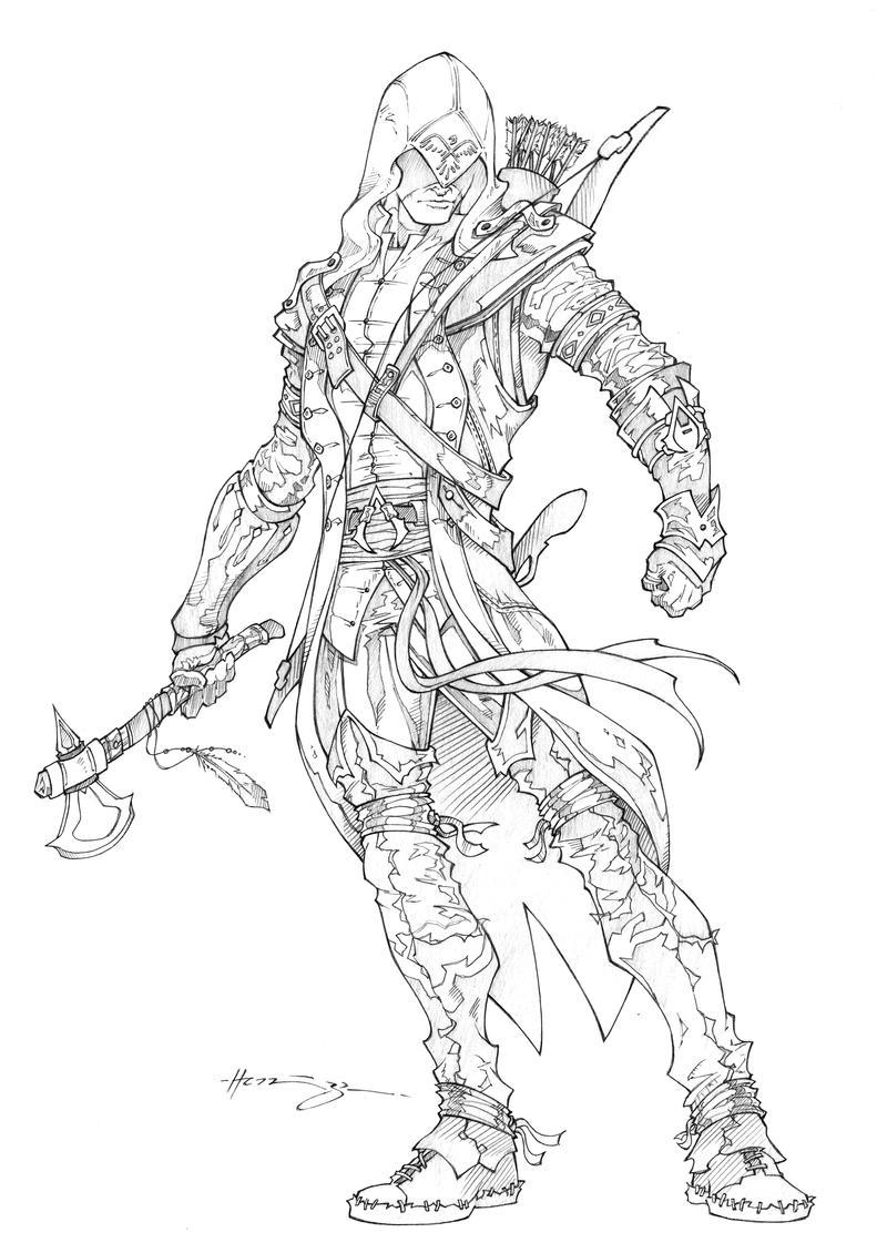 Assassins creed 3 connor by patrick hennings on deviantart - Mesas para dibujar ...