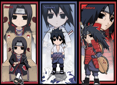 NARUTO - Uchiha bookmark set by Jennaris