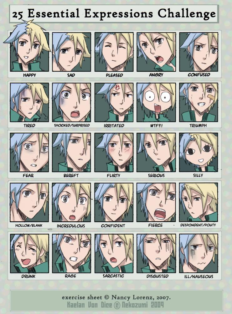 - 25 expressions challenge by Nekozumi