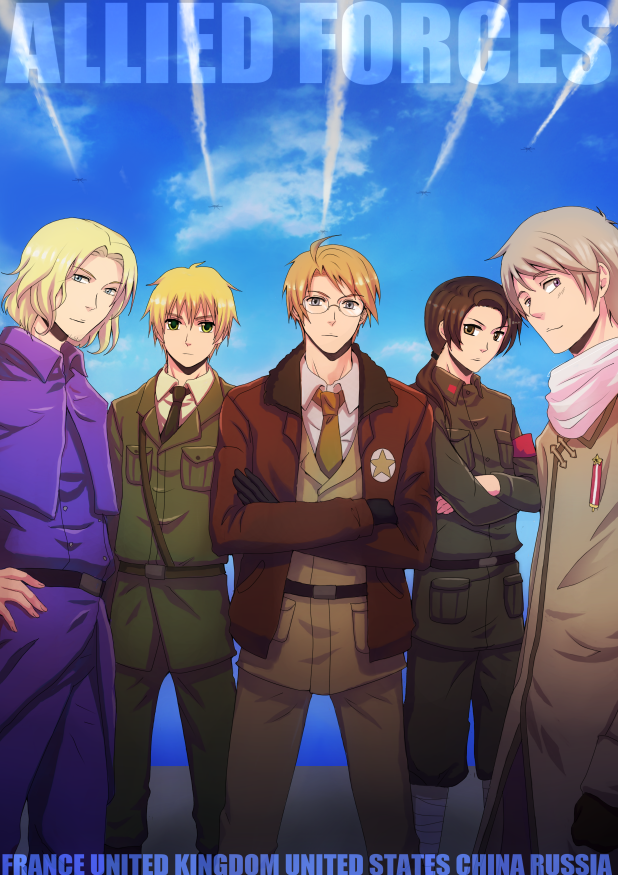hetalia coloring pages allies - photo#32