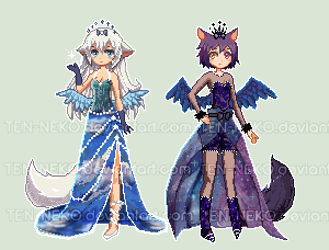 [BONUS] Day n Night Pixel Dolls ---OPEN by Jennaris