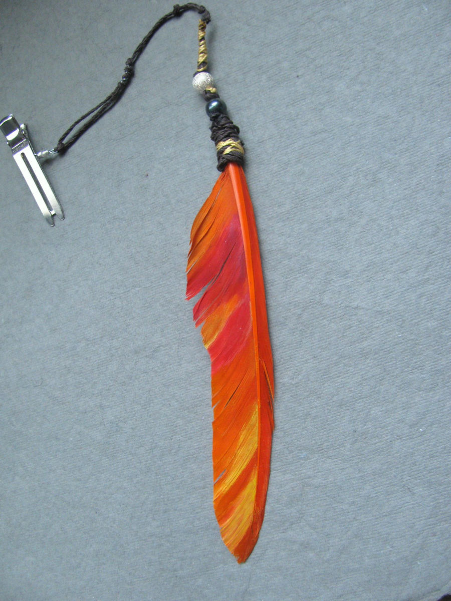 phoenix feather hair clip by life--in-technicolor on DeviantArt