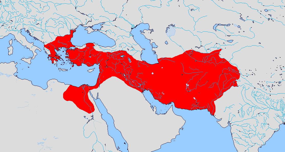 Empire of Alexander (Macedonian Empire) 323 B.C. by ...