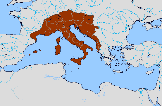 Map Of Provinces Of Italy.Alt New Kingdom Of Italy Homeland Provinces By Sharklord1 On