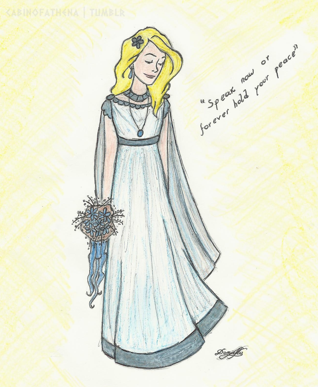 The Mark Of Athena Fan Art Annabeth Wedding Day By Danydaniella Dquvdg
