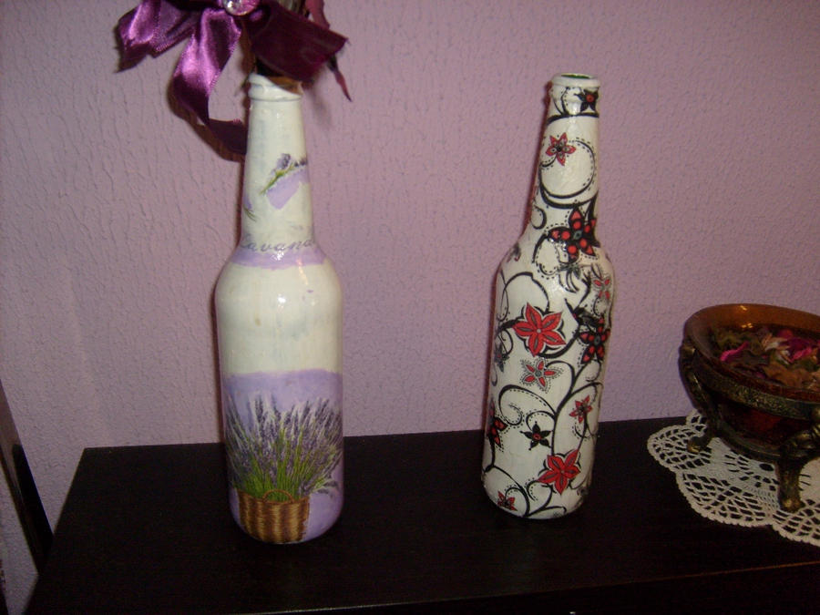 decoupage - butelki by caracashi