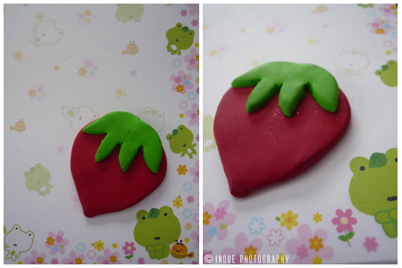strawberry pendant by maajonez