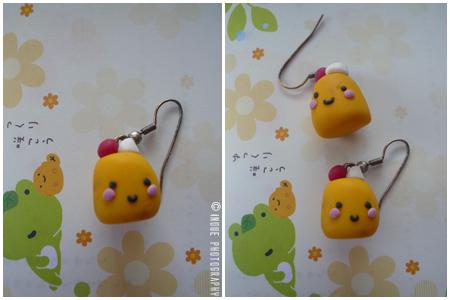 pudding earrings by maajonez