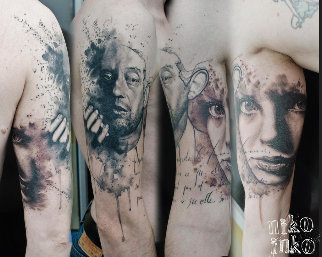 Serge Gainsbourg Tattoo Portrait By Niko Inko On Deviantart