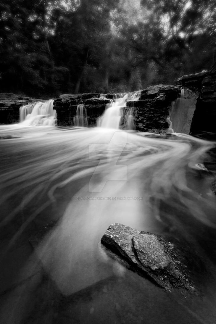 Waterfall Glen by ClaytownPaintings