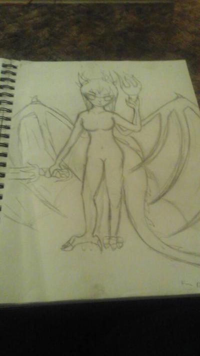 Demon of Fire by FoxyFan42