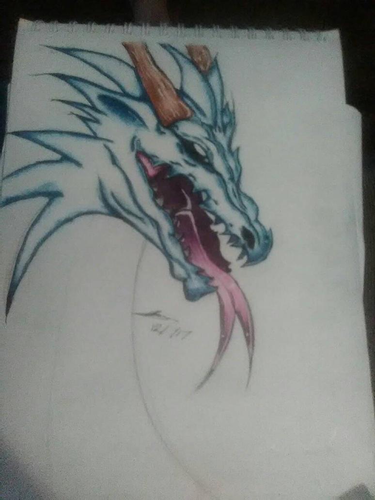 dragon drawing by FoxyFan42
