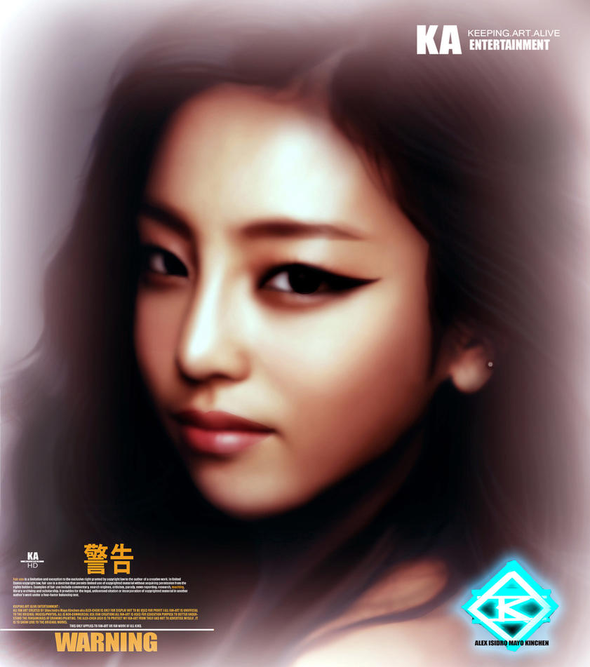 GOO HARA the Stare by KINCHENart