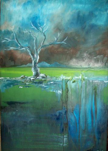 Stormy Sky Tree by hippiedesigner