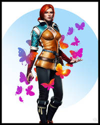 Triss Merigold   Butterflies by vitalyaya