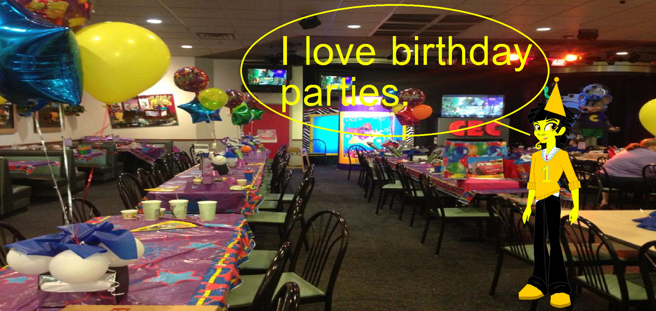 Happy Tyler At Chuck E Cheeses Birthday Party by Hubfanlover678 on