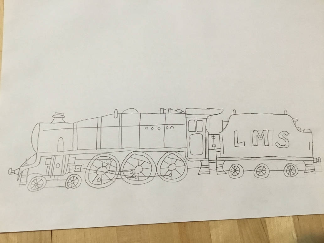 LMS Stanier Class 5 4-6-0 Drawing by Hubfanlover678 on