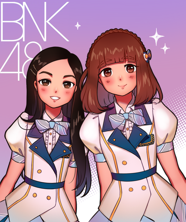 Satchan and Kaimook BNK48 by Black-Bamboo