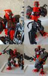 Bionicle: RECREATION Ratakka, Warrior of Fire (V5)
