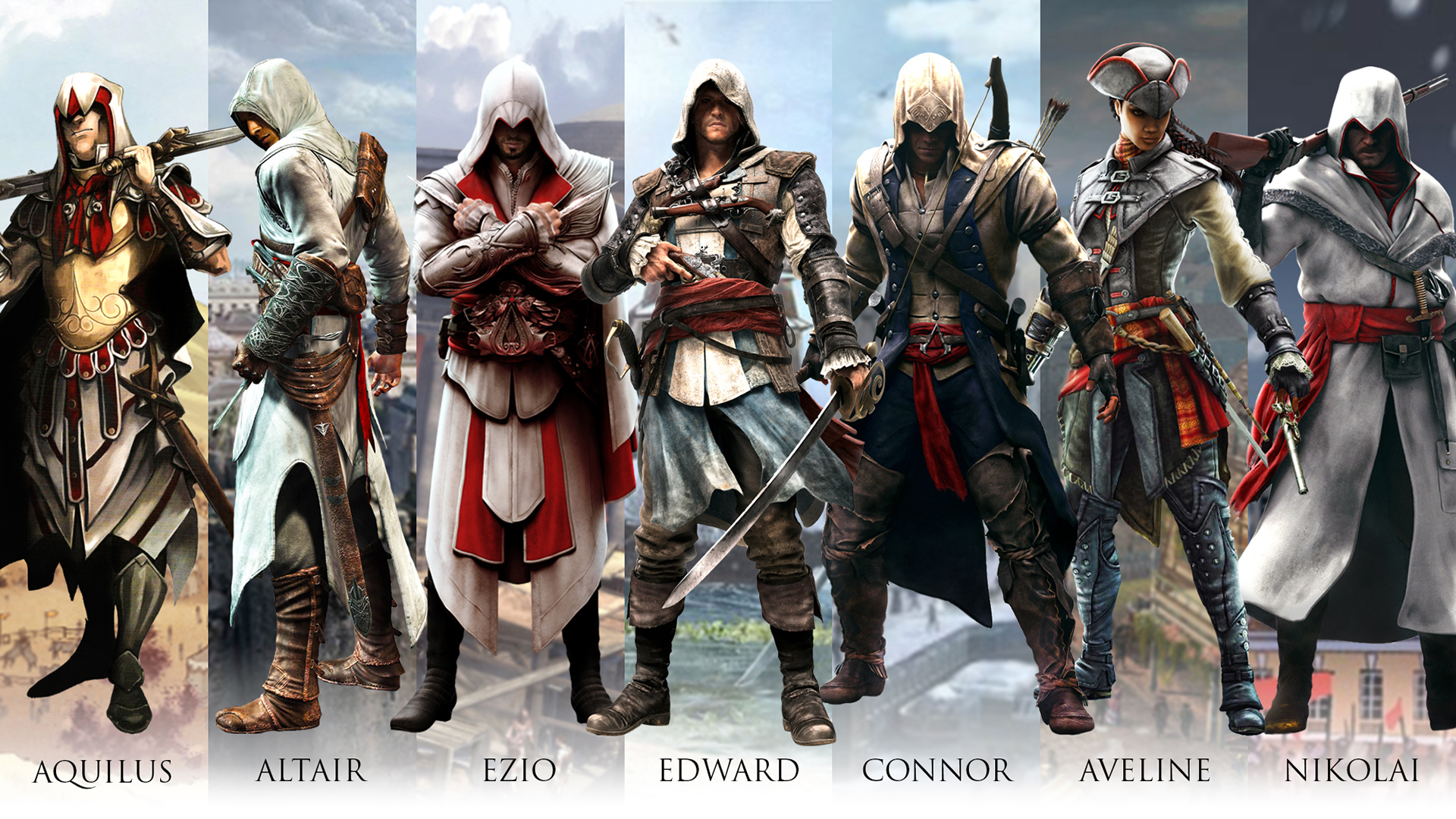 All Hero In Assassin S Creed Series By Santap555 On Deviantart