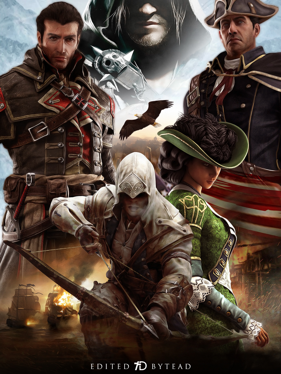 Assassin S Creed Americas Saga Poster By Santap555 On Deviantart