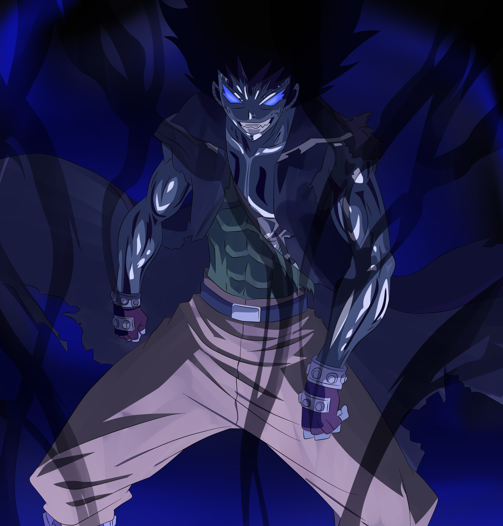 Why Can Gajeel Use Shadow Iron Dragon Mode Gajeel Shadow Iron Dragon