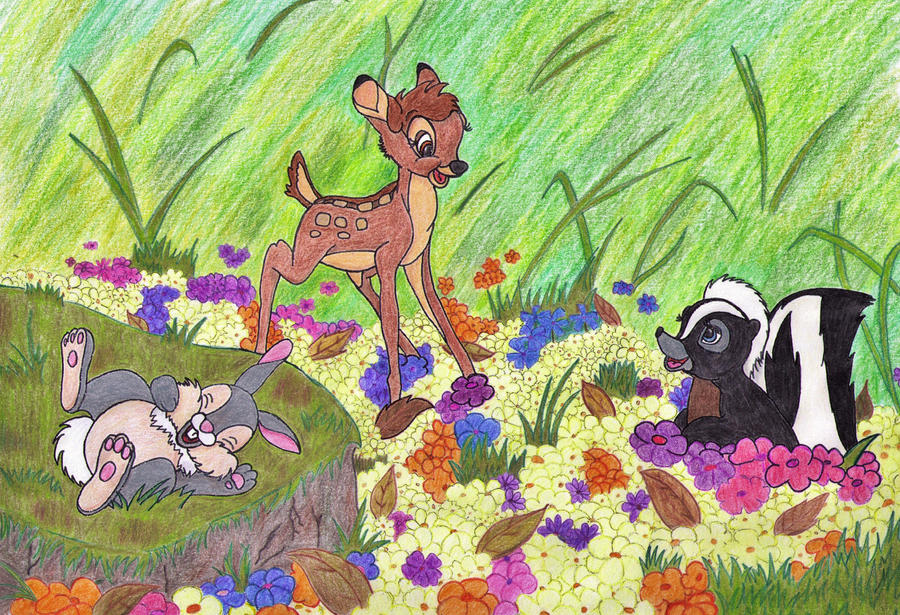 Bambi, Thumper and Flower by MoonyMina on DeviantArt
