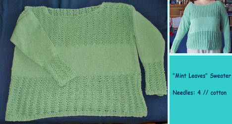 ''Mint Leaves'' Sweater