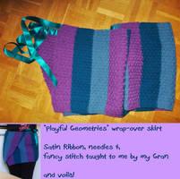 ''Playful Geometries'' Wrap-Over Skirt