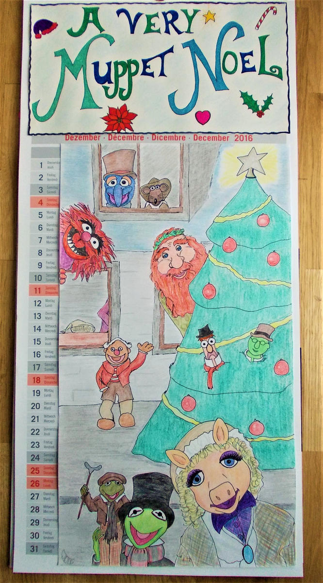 December Calendar Art : A very muppet noel calendar for december by moonymina on deviantart