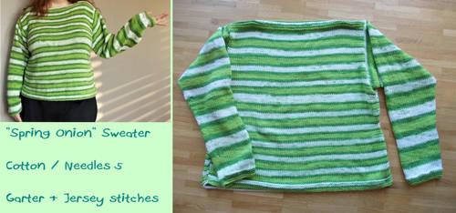Spring Onion Sweater