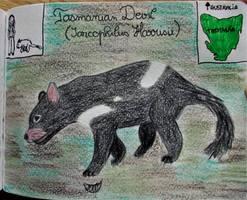 Tasmanian Devil - Animal of August 2018 by MoonyMina