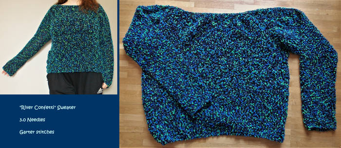 ''River Confetti'' Sweater