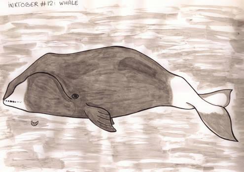 Inktober #12 - Whale