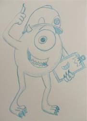 Cartoon Sketchbook - Mike Wazowski by MoonyMina