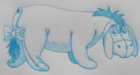 Cartoon Sketchbook - Eeyore by MoonyMina