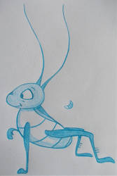 Cartoon Sketchbook - Cri-Kee by MoonyMina