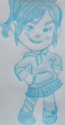 Cartoon Sketchbook - Vanellope by MoonyMina