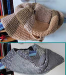 Camel and Grey Snoods by MoonyMina