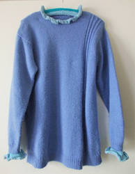Upcycling/re-knitting: Forget-Me-Not pullover