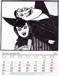 2021 Cartoon Charas Calendar: May - Mavis and Drac