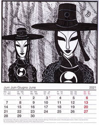 2021 Cartoon Charas Calendar: Moon Princesses