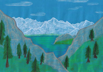 Mountainscape - landscape practice