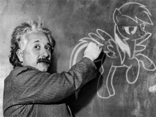 Einstein was a Brony by MrBarthalamul